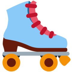 How Roller Skate emoji looks on Twitter.
