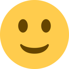 How Slightly Smiling Face emoji looks on Twitter.