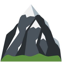 How Snow-Capped Mountain emoji looks on Twitter.