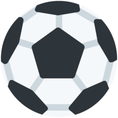 How Soccer Ball emoji looks on Twitter.
