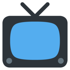 How Television emoji looks on Twitter.