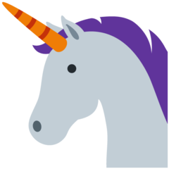 How Unicorn emoji looks on Twitter.