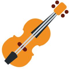 How Violin emoji looks on Twitter.
