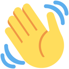 How Waving Hand emoji looks on Twitter.