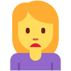 How Woman Frowning emoji looks on Twitter.