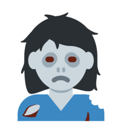How Woman Zombie emoji looks on Twitter.