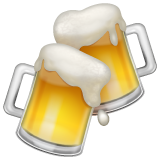How Clinking Beer Mugs emoji looks on Whatsapp.