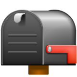 How Closed Mailbox with Lowered Flag emoji looks on Whatsapp.