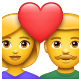 How Couple with Heart emoji looks on Whatsapp.