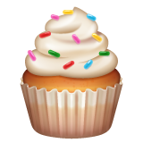How Cupcake emoji looks on Whatsapp.