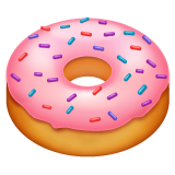 How Doughnut emoji looks on Whatsapp.