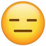 How Expressionless Face emoji looks on Whatsapp.