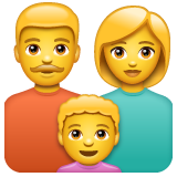 How Family: Man, Woman, Boy emoji looks on Whatsapp.