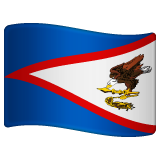 How Flag: American Samoa emoji looks on Whatsapp.