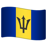 How Flag: Barbados emoji looks on Whatsapp.