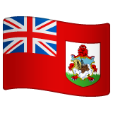 How Flag: Bermuda emoji looks on Whatsapp.