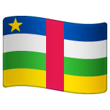 How Flag: Central African Republic emoji looks on Whatsapp.