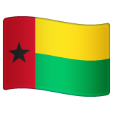 How Flag: Guinea-Bissau emoji looks on Whatsapp.