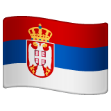 How Flag: Serbia emoji looks on Whatsapp.