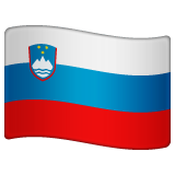 How Flag: Slovenia emoji looks on Whatsapp.