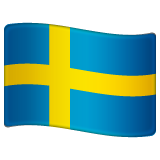 How Flag: Sweden emoji looks on Whatsapp.