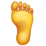 How Foot emoji looks on Whatsapp.