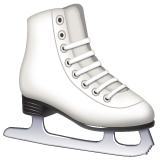 How Ice Skate emoji looks on Whatsapp.