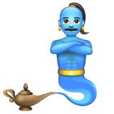 How Man Genie emoji looks on Whatsapp.