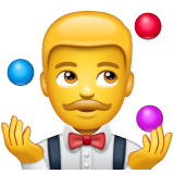 How Man Juggling emoji looks on Whatsapp.