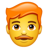 How Man: Red Hair emoji looks on Whatsapp.