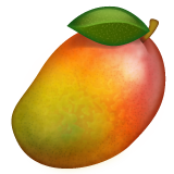 How Mango emoji looks on Whatsapp.