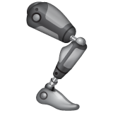 How Mechanical Leg emoji looks on Whatsapp.