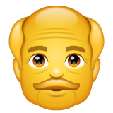 How Old Man emoji looks on Whatsapp.