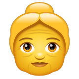 How Old Woman emoji looks on Whatsapp.