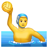 How Person Playing Water Polo emoji looks on Whatsapp.