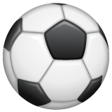 How Soccer Ball emoji looks on Whatsapp.