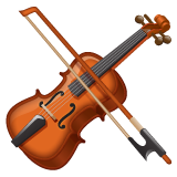 How Violin emoji looks on Whatsapp.