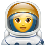 How Woman Astronaut emoji looks on Whatsapp.